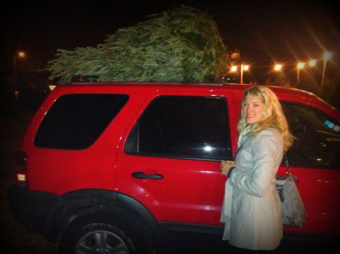 clifford ready to haul the tree