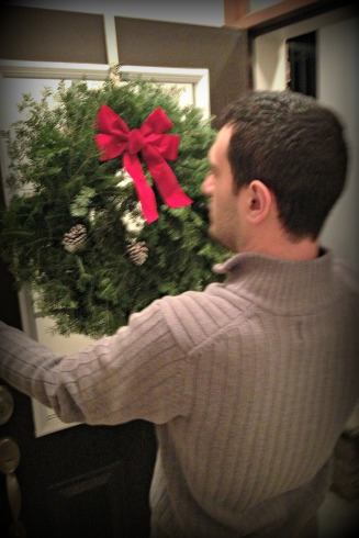 hanging the wreath