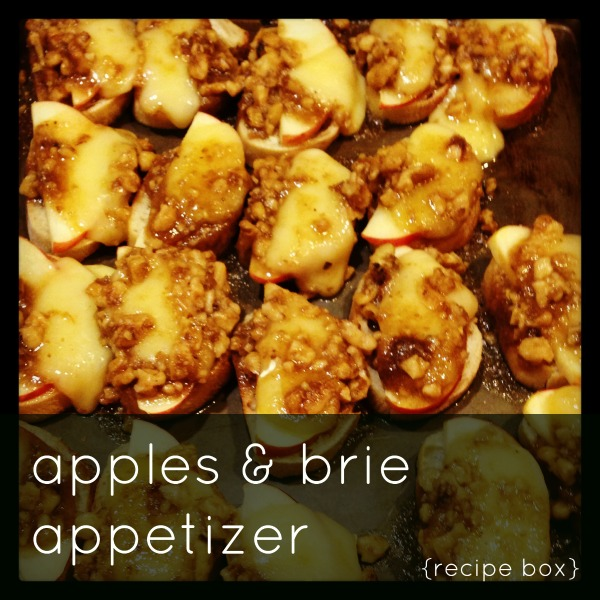 apples & brie appetizer // toast to 10,000