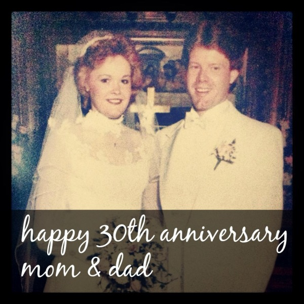 happy 30th wedding anniversary