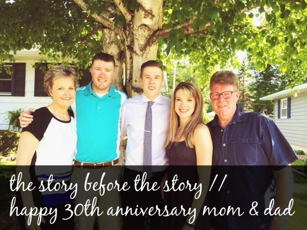 happy 30th anniversary mom and dad